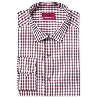 Alfani Mens Plaid Fitted Dress Shirt