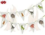 Jurassic Collection - Dinosaurs Mix Theme Bunting Banner 15 Flags For Guaranteed Stylish Amazing...