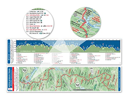 Appalachian Trail Map AT 10 Shenandoa National Park AT Pocket Profile