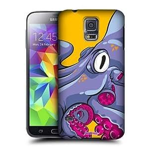 AIYAYA Samsung Case Designs Octopus Octofuss Protective Snap-on Hard Back Case Cover for Samsung Galaxy S5