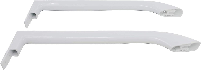 2-Pack 5304486359 Refrigerator Door Handles Set Replacement for Frigidaire LFHT1817LW7 Refrigerator UpStart Components Brand Compatible with 5304486359 White Door Handles