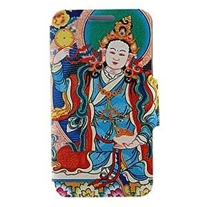 YULIN kinston patrón religioso de cinco patrón pu estuche de cuero de cuerpo completo con soporte para Samsung Galaxy Note 4