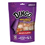 Dingo Indulgence Mini Bones, Peanut Butter Flavor, 12-Count