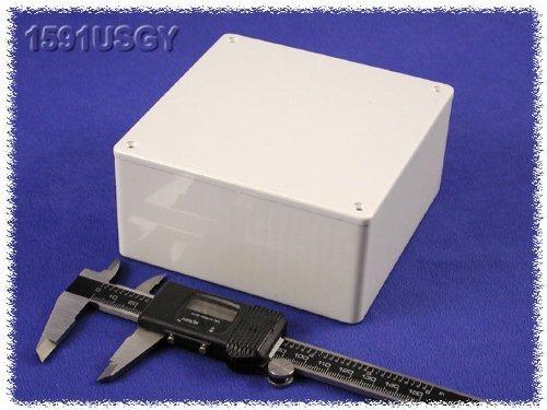 4.7 x 4.7 x 2.2 120mm x 120mm x 55mm Hammond 1591USGY Grey ABS Plastic Project Box Inches mm