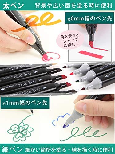 The Pen For Designer マーカーペン 80色 セット2019年ver ペン