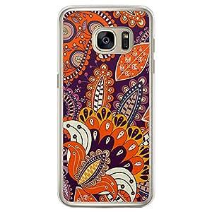 Loud Universe Samsung Galaxy S7 Edge Colorful Paisley 2 Designed Transparent Edge Case - Multi Color