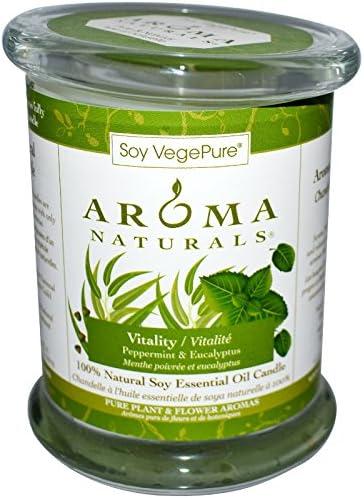 Soy VegePure, vitalidad de la soja vela del pilar, menta y eucalipto, 7,62 cm x 8,89 cm