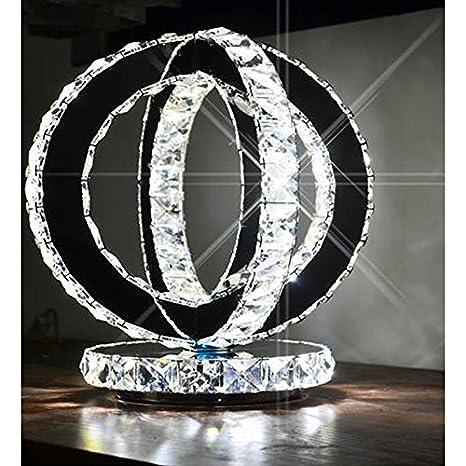 Moderno Cristal Lámpara de escritorio Acero Inoxidable Doble ...