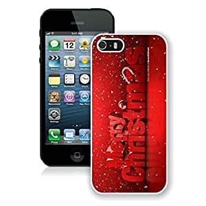 Custom Design Iphone 5S Protective Case Merry Christmas iPhone 5 5S TPU Case 77 White