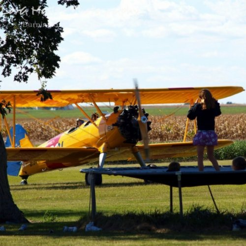 The Girl, the Stearman & the Trampoline