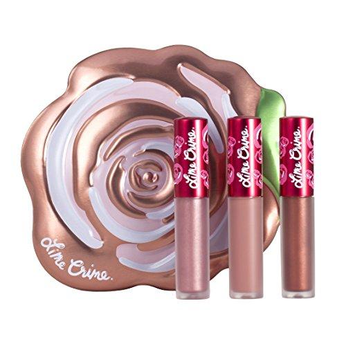 Lime Crime Velve-tins Liquid Matte Lipstick Mini Velvetine Trios (Champagne Rose)
