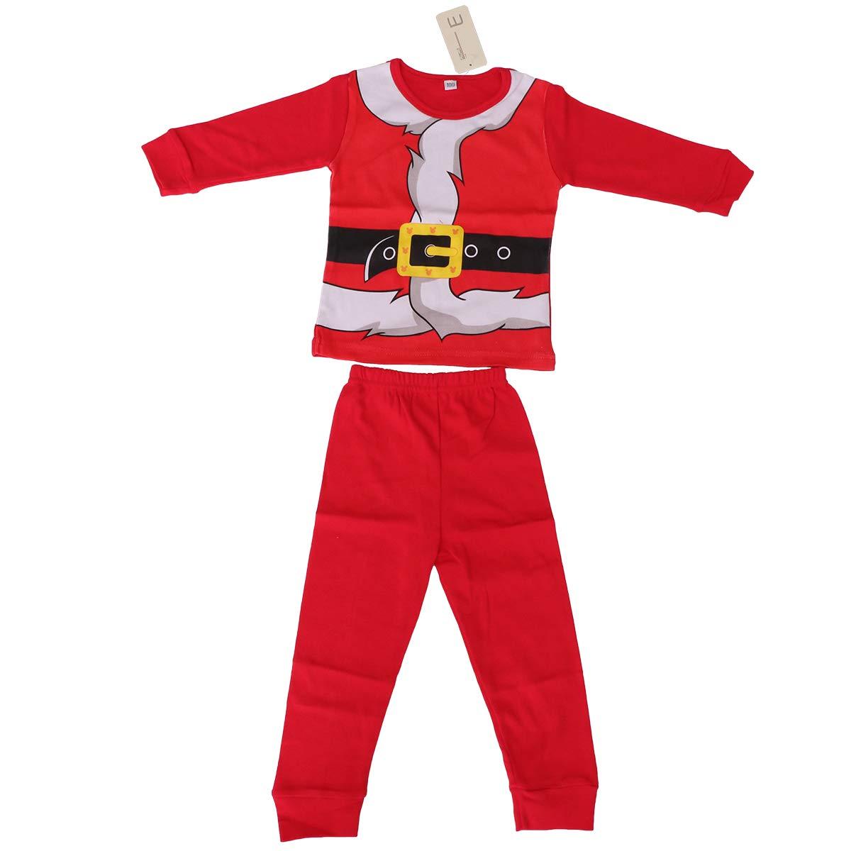 BESTOYARD Ropa Papa Noel Disfraz Santa Claus para Infantil niños niñas Trajes de Navidad (Tamaño 80) I17K318I489EY