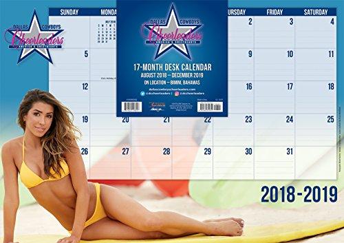 Turner Licensing Dallas Cowboys Cheerleaders 2018-19 12X17 17-Month Desk Pad Calendar (19998900582)