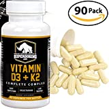 #7: Max Strength D3 + K2: 10,000 iu D and 1500 mcg K-2 by SuperDosing 90 Caps. High Potency for Heart and Bone Health. Boost Your Energy and Immune System with Our Best Vitamin D and Vit K Supplement