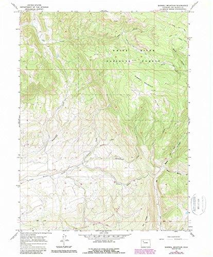 Colorado Maps   1966 Sawmill Mountain, CO USGS Historical Topographic Map  Fine Art Cartography Reproduction - Mills Map Colorado