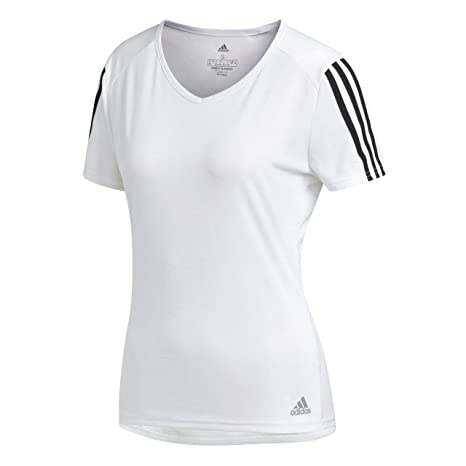 ShirtAmazon uk Running Adidas co Women's 3 Short Sleeve T Stripes w80XZnOPkN