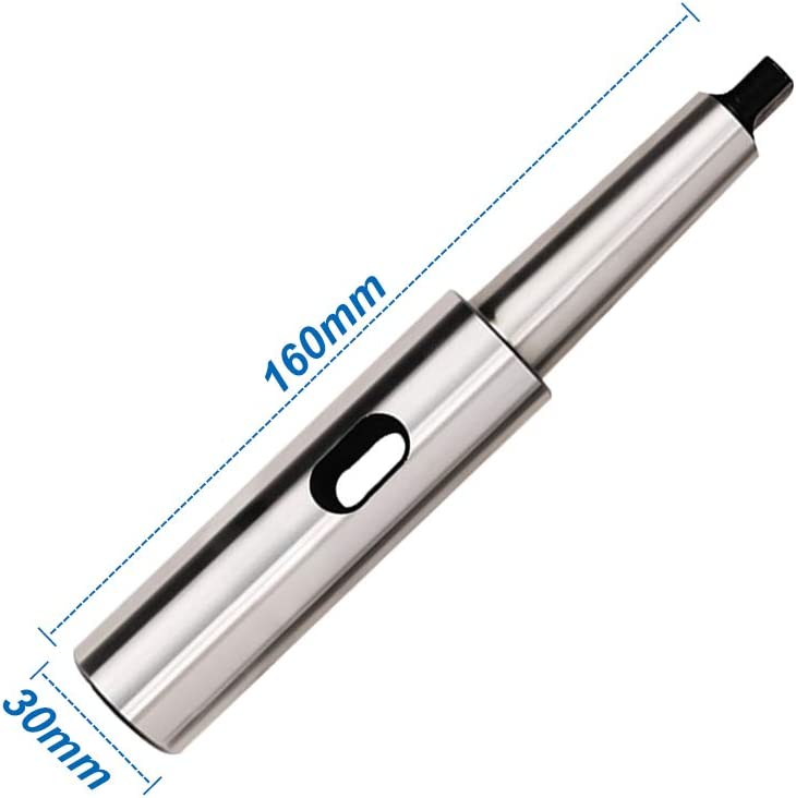 MT1 MT2 Morse Taper Extension Sleeve Socket Engineering Tools Drill Tool 20mm Diameter x 160mm Length