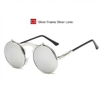 LLLM Gafas de sol Gafas de Sol de Rock Vapor Redondo ...