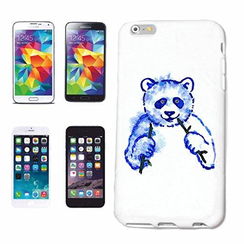 "cas de téléphone iPhone 6+ Plus ""PANDA BEAR LUNCH POLAR BEAR TEDDY BEAR BEAR"" Hard Case Cover Téléphone Covers Smart Cover pour Apple iPhone en blanc"