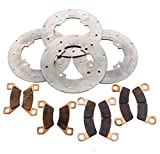 2015-2017 Arctic Cat Wildcat Sport 700 Front & Rear Brake Rotors & Brake Pads