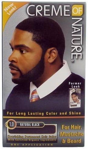 Crème de la naturaleza de hombre – Tinte para el cabello para cabello, barba y bigote Natural Negro