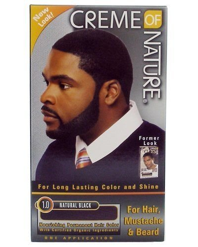 CRÈME OF NATURE MEN HAIR DYE FOR HAIR, MOUSTACHE AND BEARD NATURAL ...