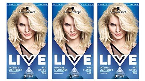 Schwarzkopf Live XXL Colour Intense Permanent Coloration 00a Absolute Platinum (Live Color Xxl Colour Intense Cosmic Blue 90)