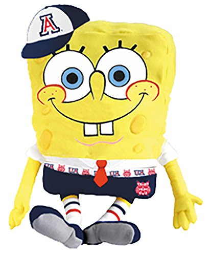 University of Arizona Wildcats Nickelodeon's SpongeBob Stuffed Animal Plush Doll Pillow