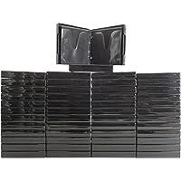 (50) Black 12-Disc Capacity CD DVD 2-Ring Album Wallet Book Storage CDBR2412BK (UniKeep Style)
