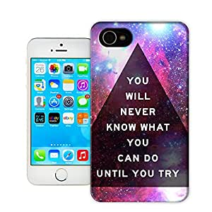 Fantasy Star Triangle Language TPU Protective hard case For Iphone 4 4s Pringting phone cover