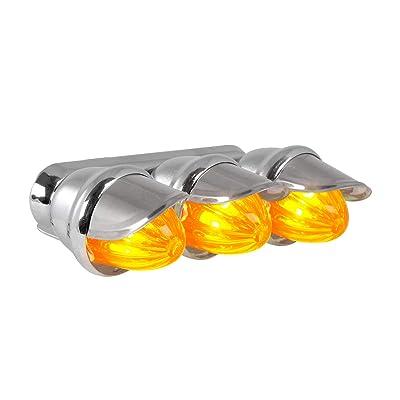 GG Grand General 82780 Amber Marker Light (Clear Triple Mini with S.S. Visor): Automotive [5Bkhe1504695]