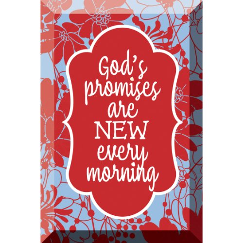 God's Promises Artisan Glass Plaque - Pretty glass wall art.