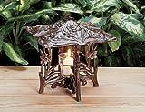 Whitehall Products Daffodil Twilight Lantern, Copper Verdi