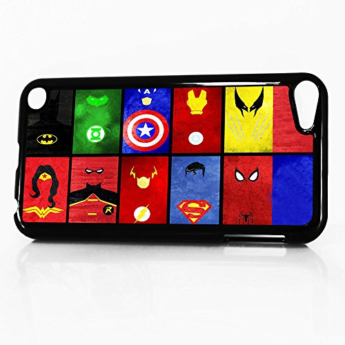 ( For iTouch 5 iPod Touch 5 ) Phone Case Back Cover - HOT10874 Superhero Batman Spiderman Wonderwoman Superman HOT10874