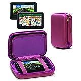 Navitech Purple Hard Eva Nylon Protective Tough Carry Case For The Garmin Nuvi 40 40LM 40WE