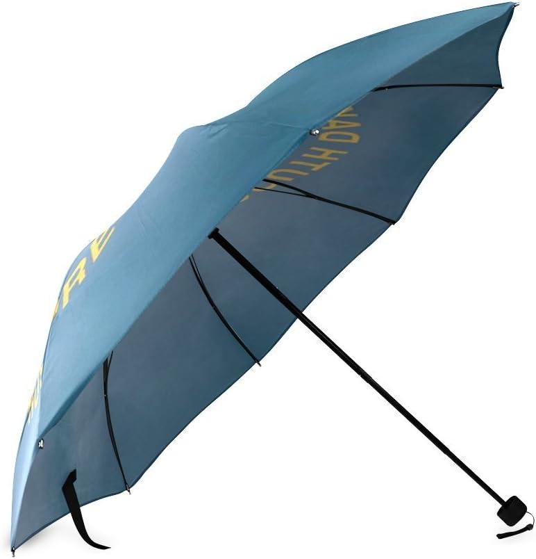 Custom South Dakota State Flag Compact Travel Windproof Rainproof Foldable Umbrella