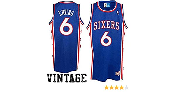 f147ab7b480 Amazon.com  Julius Erving  6 Philadelphia 76ers Adidas Hardwood Classics  Youth Jersey  Sports   Outdoors