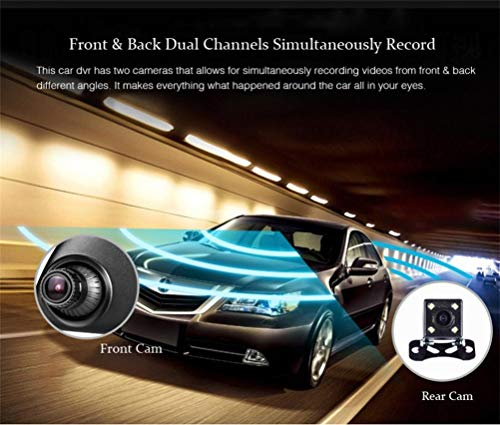 Dreamyth V25 1080P HD1.3MP Webcam Car DVR Dual Lens Cameras Vehicle Rear Video Recorder,,American Warehouse Shippment by Dreamyth (Image #5)