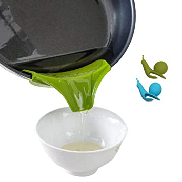 Compra SwirlColor Gadgets de cocina de silicona Verter Verter el aceite líquido sopa de Ollas Sartenes Tazones Mess Boquilla gratuito en Amazon.es