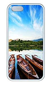 Brian114 5s Case, iPhone 5 5s Case - Soft Rubber White Boats 2 Protection Back Case for iPhone 5 5S