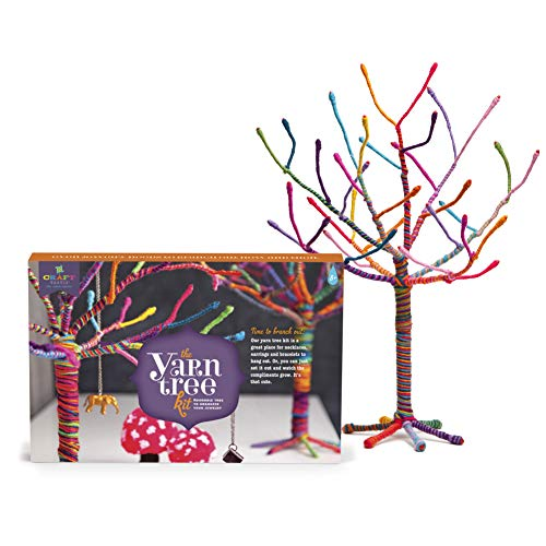 "51atPRIpZzL - Craft-tastic – Yarn Tree Kit – Craft Kit Makes One 18"" Tall Jewelry Organizer"