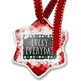 Christmas Ornament Lucky Everyday St. Patrick's Day Cute Shamrocks, red - Neonblond