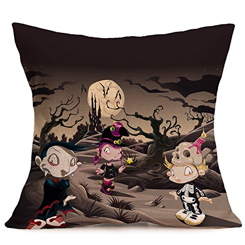 HomeMals Canvas Throw Pillow Case Shell Couch Bed Home Decoration Halloween Roses Floral Skull inches Black Grey