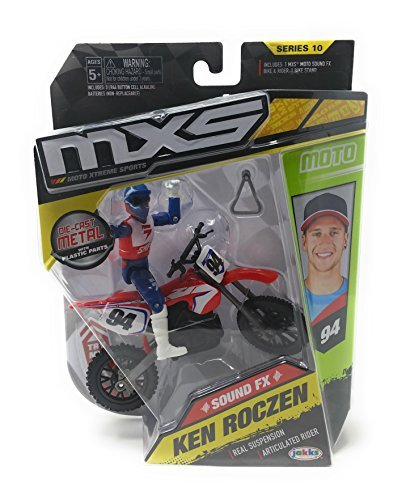 MXS Boys Ken Roczen Sound FX Bike & Rider Set Series 10