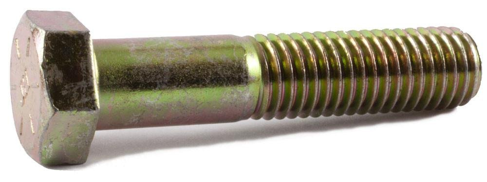 3//4-16 Thread Size External Hex 3//4-16 Thread Size 8 Long Steel Pack of 10 8 Long Grade 8 Pack of 10 Brighton-Best International 455579 Hex Zinc Yellow-Chromate Plated Head Screw