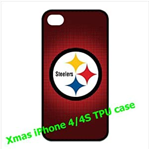 iPhone 4/4s back shell with Pittsburgh Steelers Troy Polamalu background
