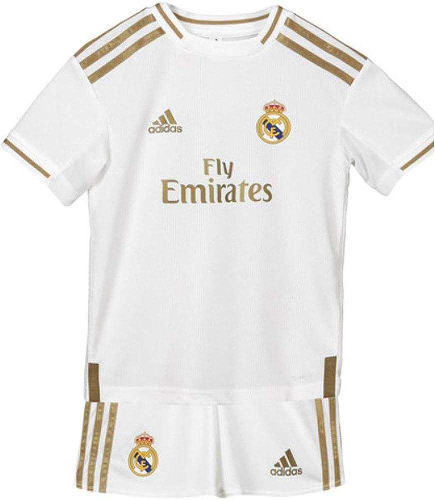 Esperar De Dios preparar  Amazon.com: adidas Real Madrid Home Mini KIT 2019-20 (White/Gold) (2XS):  Clothing