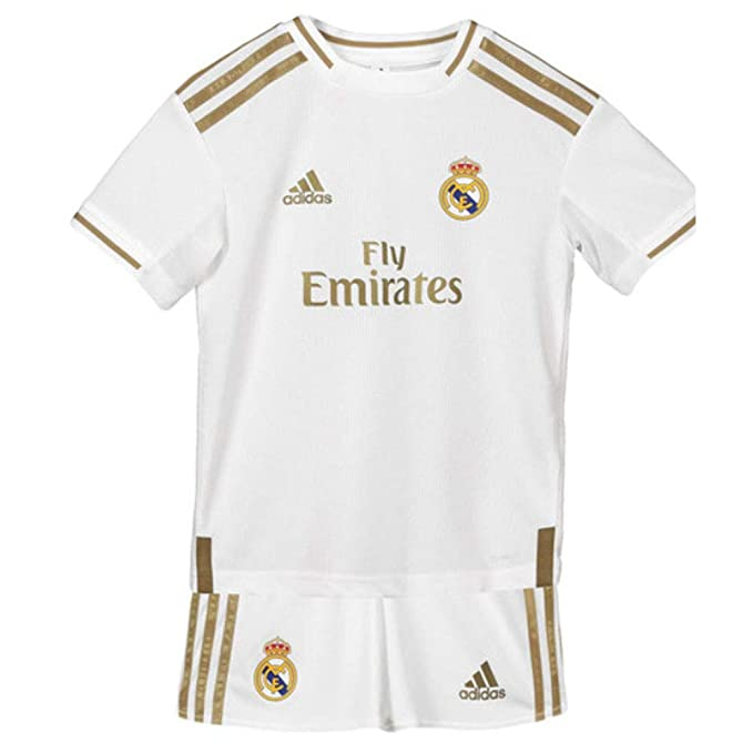 Amazon.com: adidas Real Madrid Home Mini KIT 2019-20 (Blanco ...
