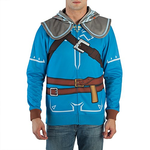 Wind Waker Zelda Costume (Bioworld Zelda Breath Of The Wild Suit Up Costume Hoodie (Small))