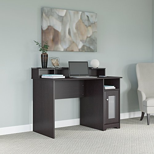 Bush Furniture Cabot Computer Desk with Desktop Organizer in Espresso Oak
